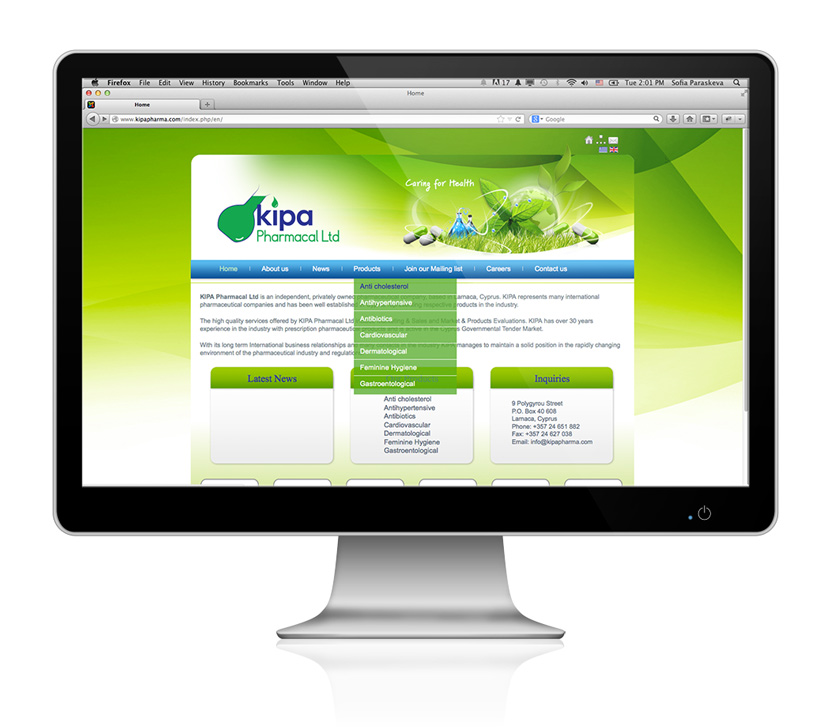 Kipa Pharmacal Ltd website