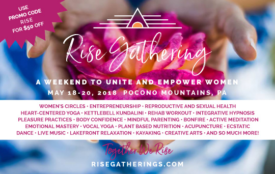Print Ad for Rise Gatherings Event