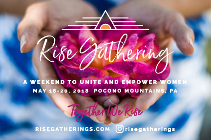 Postcard for Rise Gatherings Event